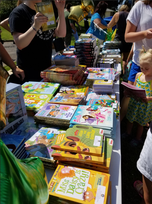 More than 650 free books were given out during the Rover's first stop.